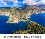 cephalonia island assos village ... | Shutterstock . vector #1017594361