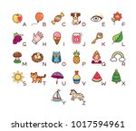 a set of illustrations for a... | Shutterstock .eps vector #1017594961