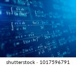 math concept   mathematical... | Shutterstock . vector #1017596791