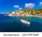 assos village and port in... | Shutterstock . vector #1017597409