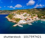 aerial view of assos kephalonia ... | Shutterstock . vector #1017597421