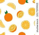 fruit menu   orange   simple... | Shutterstock .eps vector #1017599905
