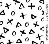 minimalist brush painted cross  ... | Shutterstock .eps vector #1017602401