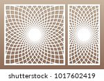 template for cutting. mandala ... | Shutterstock .eps vector #1017602419