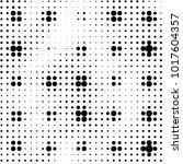 grunge halftone black and white ... | Shutterstock .eps vector #1017604357