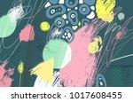 brush stroke pattern.... | Shutterstock .eps vector #1017608455