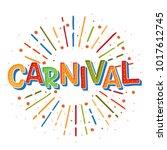 popular event brazil carnival...   Shutterstock .eps vector #1017612745