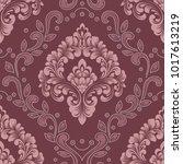 vector damask seamless pattern... | Shutterstock .eps vector #1017613219