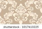 vector damask seamless pattern... | Shutterstock .eps vector #1017613225