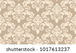 vector damask seamless pattern... | Shutterstock .eps vector #1017613237