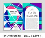 abstract vector layout... | Shutterstock .eps vector #1017613954
