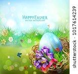 vector illustration. easter... | Shutterstock .eps vector #1017614239