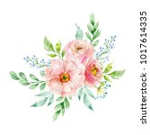 painted watercolor composition... | Shutterstock . vector #1017614335