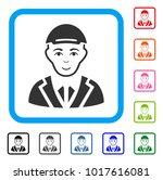 cheerful gentleman vector... | Shutterstock .eps vector #1017616081