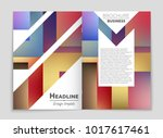 abstract vector layout... | Shutterstock .eps vector #1017617461