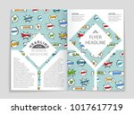 abstract vector layout... | Shutterstock .eps vector #1017617719