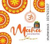 illustration of happy maha... | Shutterstock .eps vector #1017621217