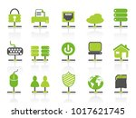 green color network connection... | Shutterstock .eps vector #1017621745