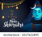 illustration of happy maha... | Shutterstock .eps vector #1017621895