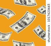 money seamless pattern | Shutterstock .eps vector #1017623665