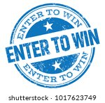 enter to win stamp | Shutterstock .eps vector #1017623749