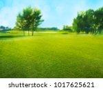 field of grass | Shutterstock . vector #1017625621