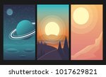 landscapes set with forest ... | Shutterstock .eps vector #1017629821