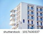 facade of a modern apartment... | Shutterstock . vector #1017630337