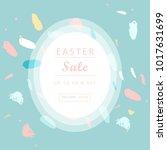 trendy easter sale banner... | Shutterstock .eps vector #1017631699