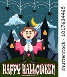 vampire for happy halloween...   Shutterstock .eps vector #1017634465