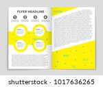 abstract vector layout... | Shutterstock .eps vector #1017636265