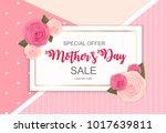 happy mother s day cute sale... | Shutterstock . vector #1017639811