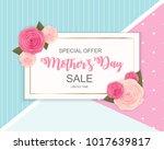 happy mother s day cute sale... | Shutterstock . vector #1017639817