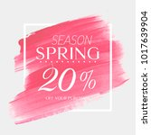 spring sale 20  off sign over... | Shutterstock .eps vector #1017639904