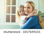 cheerful smiling beautiful...   Shutterstock . vector #1017644131