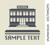 school building icon or sign ... | Shutterstock .eps vector #1017646291