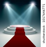 round podium with red carpet... | Shutterstock .eps vector #1017646771