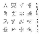 business work icon set 2 ... | Shutterstock .eps vector #1017648295