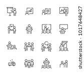 business work icon set  vector... | Shutterstock .eps vector #1017648427