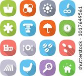 flat vector icon set   basket... | Shutterstock .eps vector #1017649561