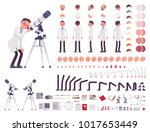 scientist character creation... | Shutterstock .eps vector #1017653449