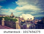 viewpoint with tourist... | Shutterstock . vector #1017656275