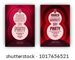 women's day party poster... | Shutterstock .eps vector #1017656521
