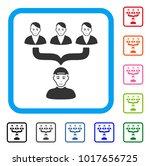 smiling citizens guide vector... | Shutterstock .eps vector #1017656725