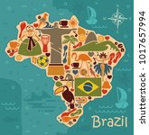 map from traditional symbols of ... | Shutterstock .eps vector #1017657994
