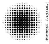 circle in halftone  halftone... | Shutterstock .eps vector #1017661369