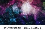 planets  stars and galaxies in... | Shutterstock . vector #1017663571