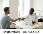 african and caucasian... | Shutterstock . vector #1017665215