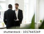 diverse successful businessmen... | Shutterstock . vector #1017665269