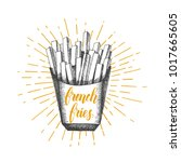 Hand Drawn Doodle French Fries...